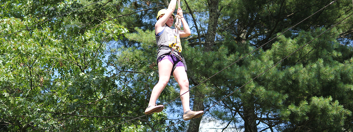 High Ropes Adventure in western nc mountains retreat